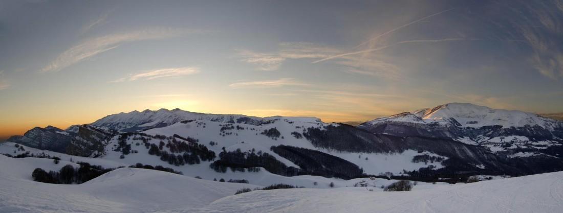Panoramica invernale Monte Baldo