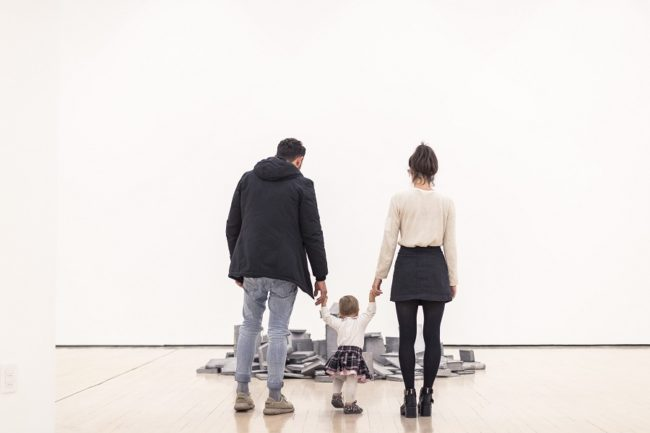 Al museo con mamma e papà