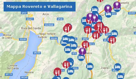 Mappa Rovereto e Vallagarina-mappa rovereto e vallagarina