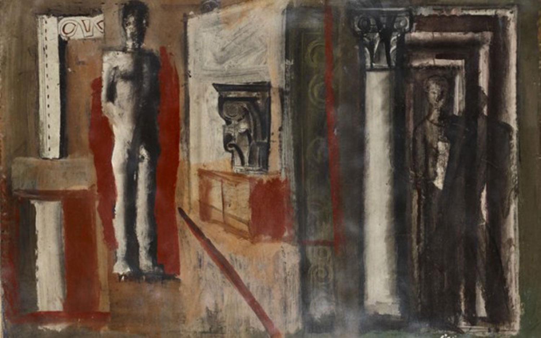 Mario-Sironi-Composizione-murale-1934-Mart-Collezione-Allaria-Pasqua e ponti di primavera