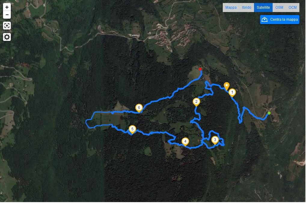 Mappa percorso Golose Baite