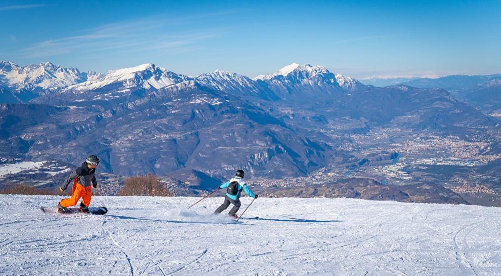 Sciare sull'altopiano di Brentonico