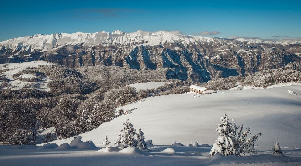 Lessinia trentina panorama inverno Malga Lavacchione - foto di Tommaso Prugnola
